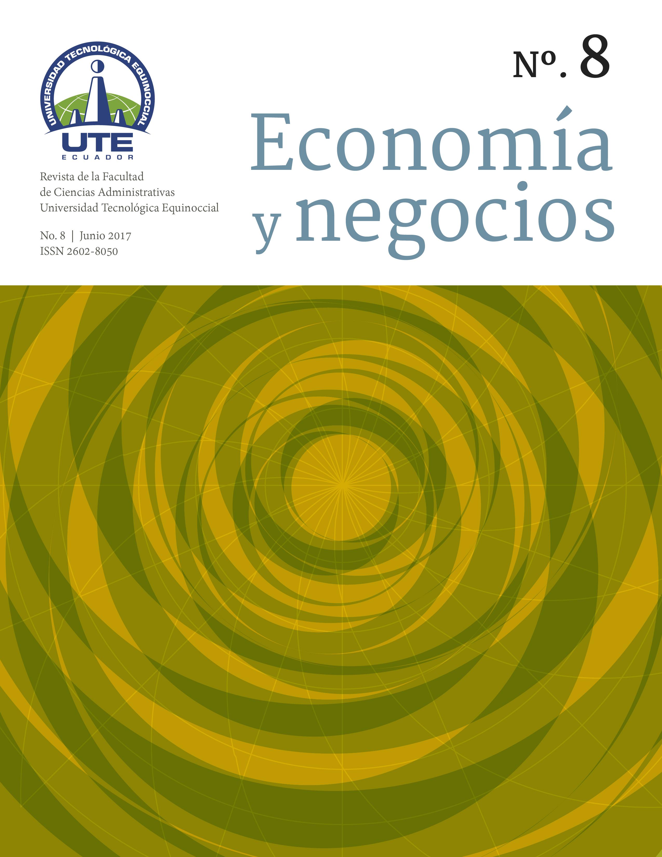 Portada Economía y Negocios volumen 8 número 1